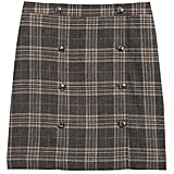 Plaid Trench Mini Skirt
