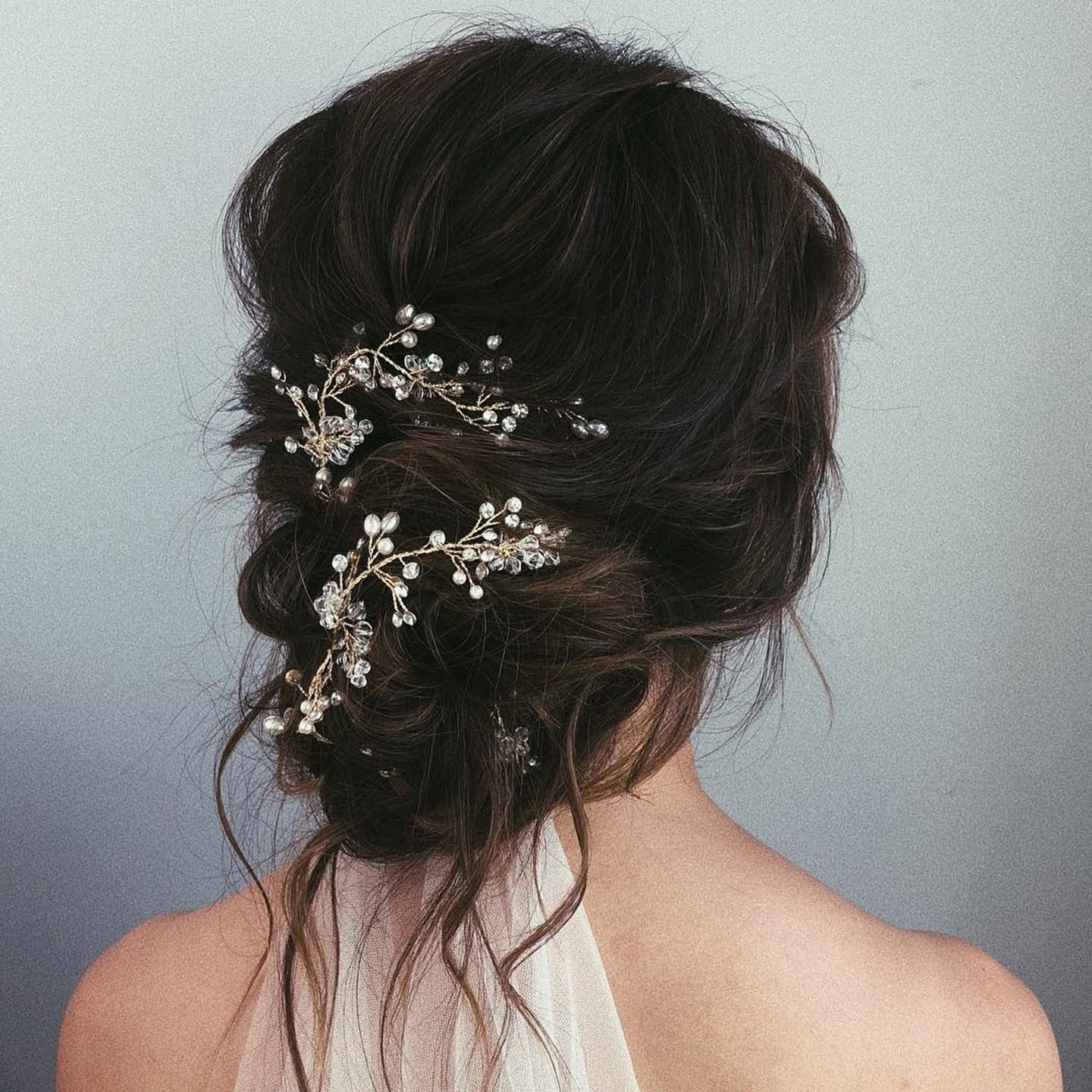 Messy bun wedding hair popsugar beauty photo 14 junglespirit Image collections