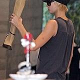 Paris Hilton Goes Leg & Underwear Shopping