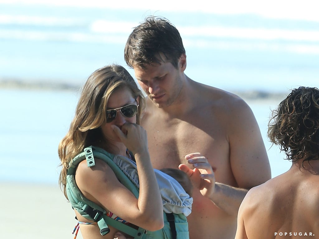 Tom Brady and Gisele Bündchen chatted with friends.