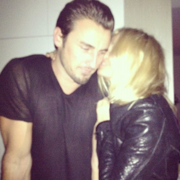 Lara Bingle shared a sweet moment with boyfriend Gareth Moody. Source: Instagram user mslarabingle