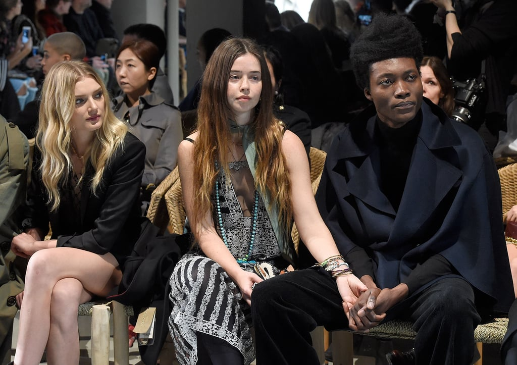 Lily Donaldson, Flo Morrissey and Benjamin Clementine at Burberry