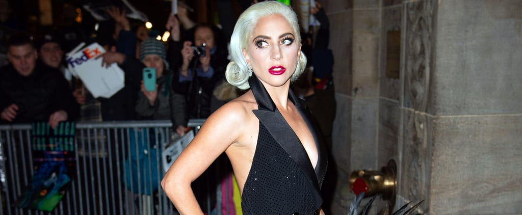 Lady Gaga's Black Tuxedo Dress January 2019