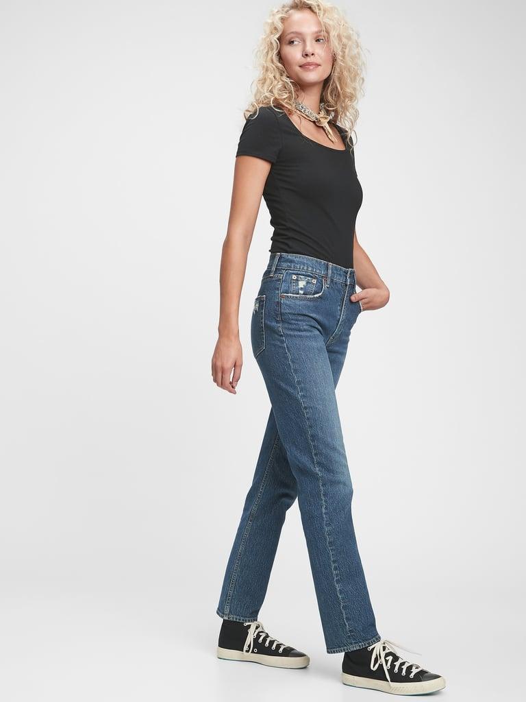 Gap Sky High Straight Leg Jeans