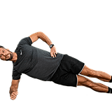 Side Plank Hip Dips: 20 each side