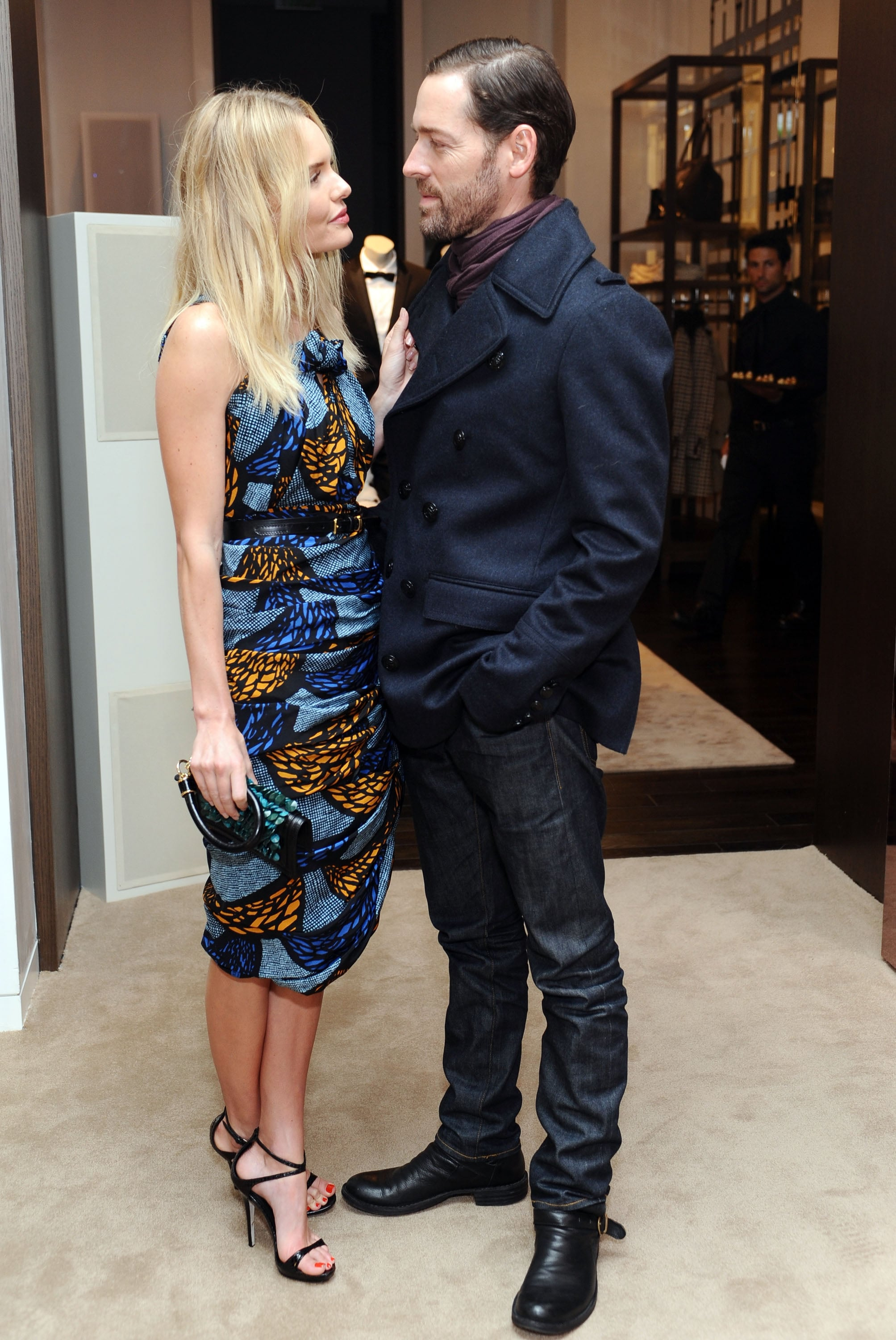 Kate Bosworth gave Michael Polish a look of love.