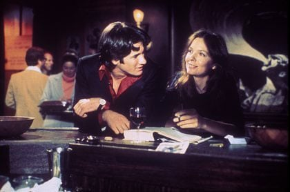 With Warren Beatty in <b>Looking for Mr. Goodbar</b>, 1977.