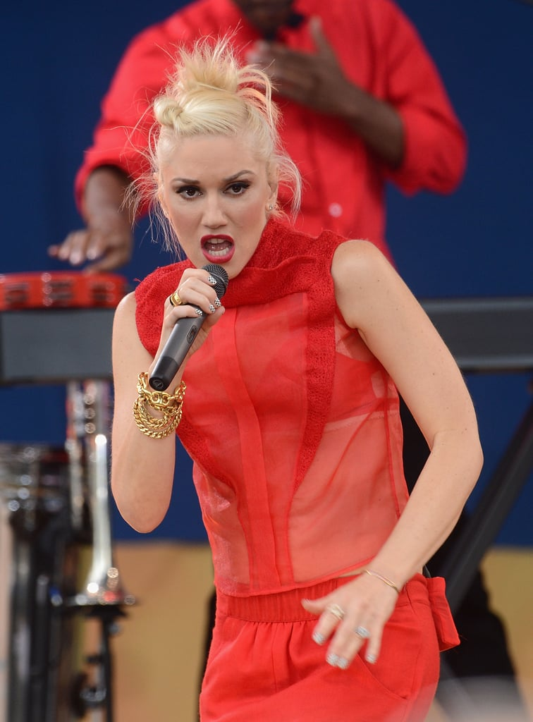 Gwen Stefani belted it out on stage for Good Morning America.