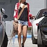 Nicole Richie Sports Short Shorts For a Lunch Date
