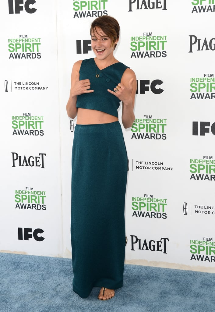 Shailene Woodley Bares Her Midriff — and Infectious Smile!