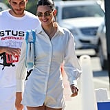 Kendall Jenner's Fourth of July Shirtdress Outfit Photos