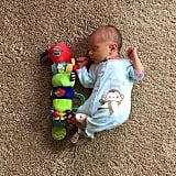 Baby vs. caterpillar.