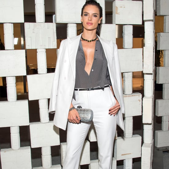 Alessandra Ambrosio's Bottega Veneta White Suit Oct. 2016