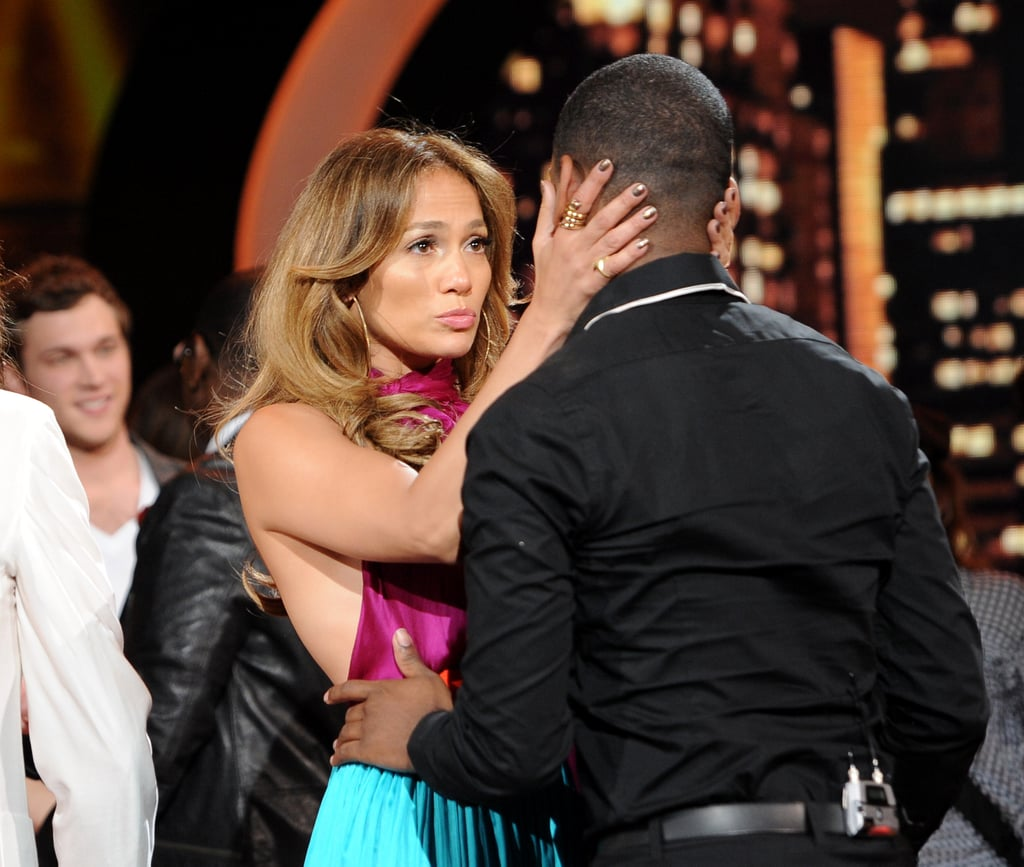 Jennifer Lopez and her fellow American Idol judges said goodbye to the latest contestant to be eliminated from the show last night. Joshua Ledet was sent home on yesterday's episode of the series, leaving Phillip Phillips and Jessica Sanchez left to compete for the top spot. Jennifer gave Joshua an emotional hug after the news was announced. There are just two episodes left this season, and they may be Jennifer's last with the show. The multitalented star has recently said she's not sure she'll return to AI for a third year. Whether or not she stays on board, she has plenty of projects ahead of her, including this weekend's new release What to Expect When You're Expecting, the upcoming thriller Parker, and a world tour for her album Love? Jennifer recently took a break from her busy schedule to meet our latest I'm a Huge Fan winner Margaret. Stay tuned today to watch Margaret's touching and sweet chat with Jennifer in our latest episode!