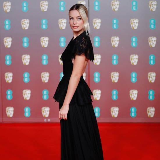 BAFTAs 2020: Margot Robbie's Black Lace Chanel Gown