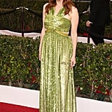 Julianne Moore in a glowing green Givenchy gown.