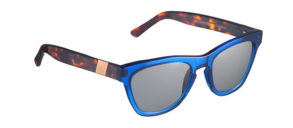 Celebrity-favorite sunglasses label Westward Leaning just launched a new Summer collection of two-toned styles, and this Louisiana Purchase pair ($195) features two of my favorite colors: cobalt and tortoise. The result is the perfect mix of chic and cool. They'll definitely get the attention they deserve. 