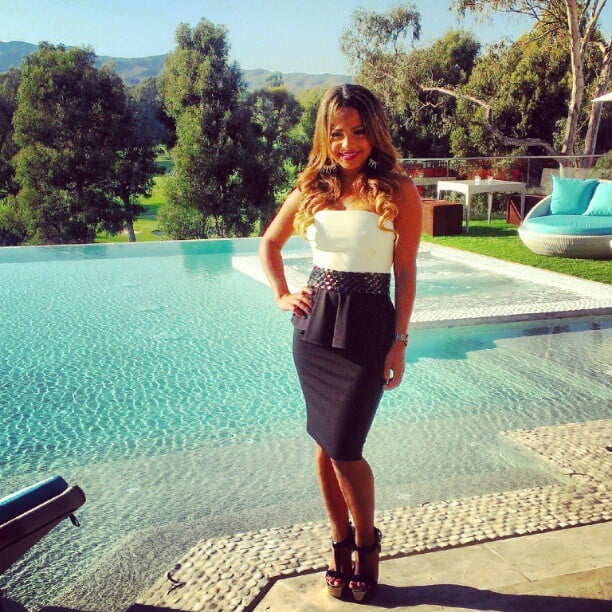Christina Milian posed by the pool. Source: Instagram user christinamilian