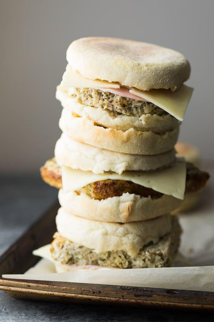 Cauliflower Herb Freezer Breakfast Sandwiches