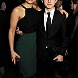 Samantha Barks took a photo with her fellow nominee Tom Holland.