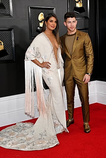 Priyanka Chopra's Ralph & Russo Fringed Gown at the Grammys