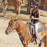 Victoria Beckham Riding a Horse | Pictures