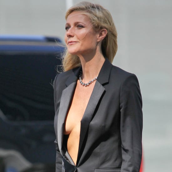 Gwyneth Paltrow Showing Skin Shooting Hugo Boss Campaign