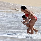Pictures of Salma Hayek and Valentina Wearing Bikinis