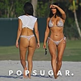 Kim and Kourtney's Beach Vacation Involves a Good Amount of Booty and Underboob
