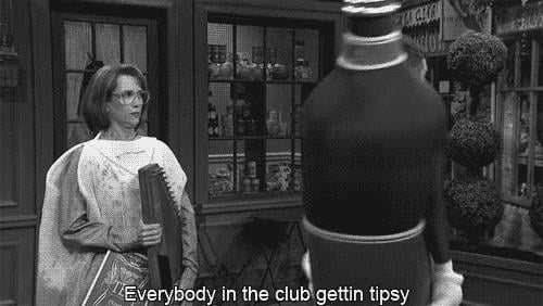 When he got tipsy on Saturday Night Live.