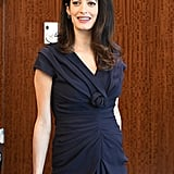 Amal Clooney Wearing Knotted Dress