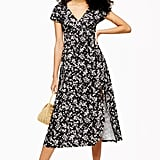 Topshop Ditsy Print Midi Dress