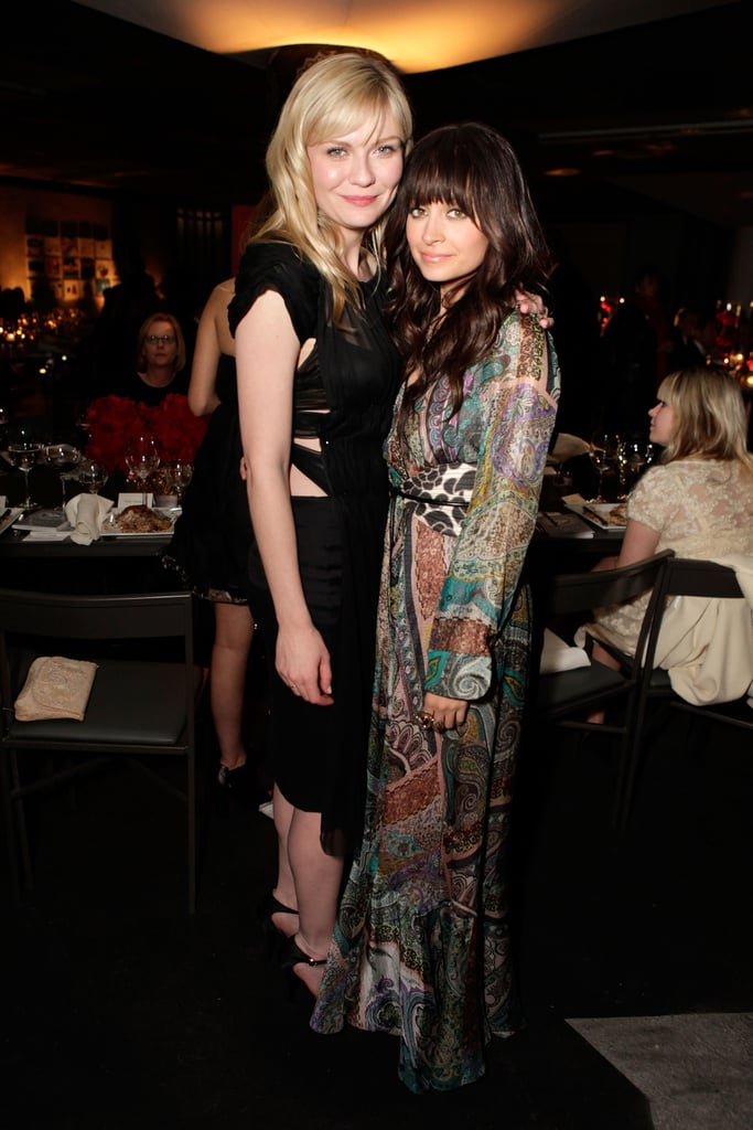 Kirsten Dunst met up with Nicole Richie in Beverly Hills at Art of Elysium's third annual black tie charity gala in January 2010.