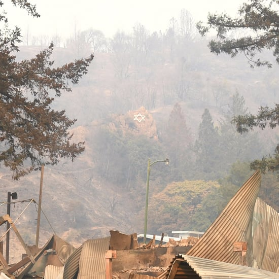 Photo of Star of David Surviving Northern California Fires