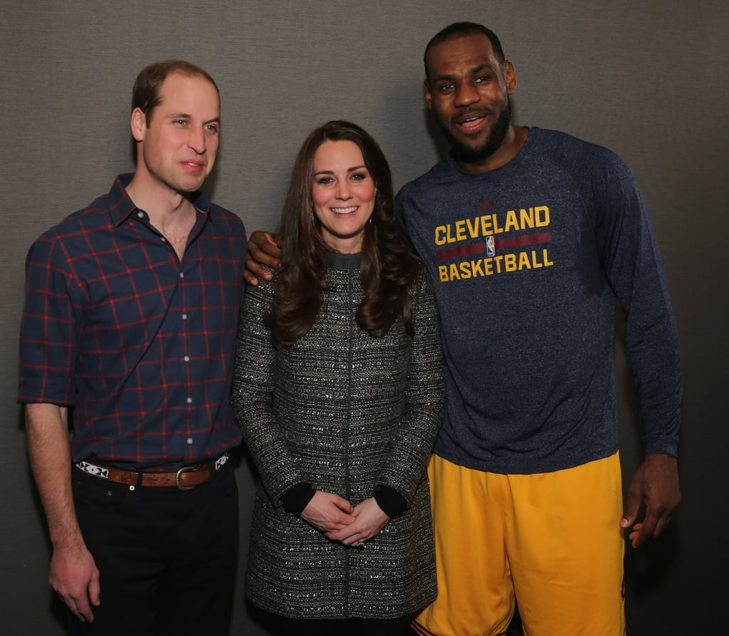 Kate and William Posed With LeBron James