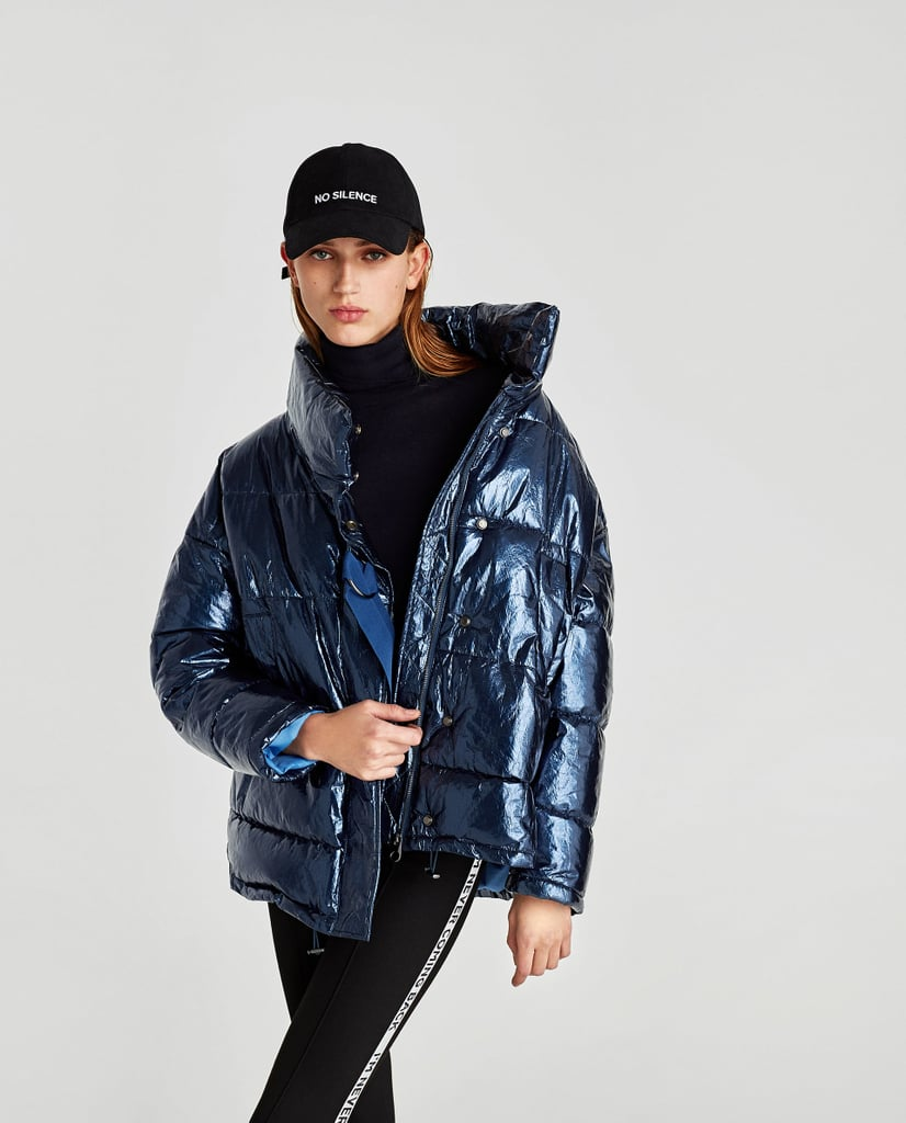 Short Quilted Jacket With Shimmer