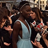 Lupita Nyong'o was positively glowing on the red carpet.