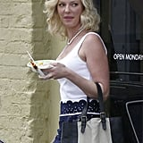 Katherine Heigl broke from her New Orleans set of North of Hell on Thursday.