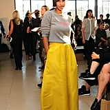 At the Zero + Maria Cornejo show during New York Fashion Week in September of 2016.