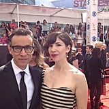 Portlandia stars Fred Armisen and Carrie Brownstein hit the red carpet together. Source: Instagram user entertainmentweekly