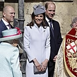 Kate Middleton Blue Coat on Easter 2019
