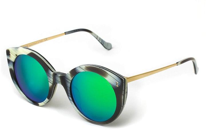 Illesteva Palm Beach Mirrored Sunglasses ($240)