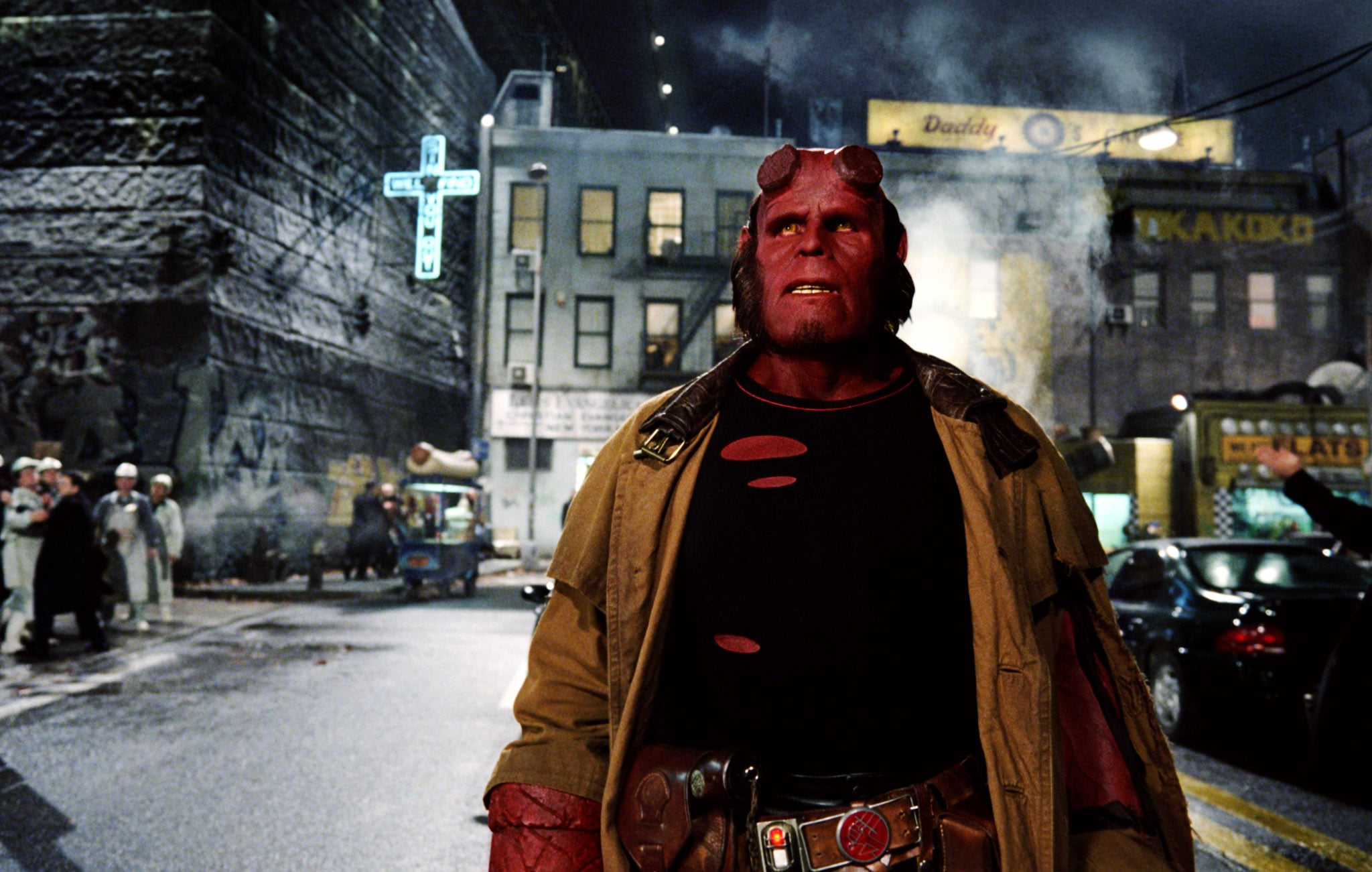 HELLBOY II: THE GOLDEN ARMY, (aka HELLBOY 2), Ron Perlman (left), 2008. Universal/courtesy Everett Collection