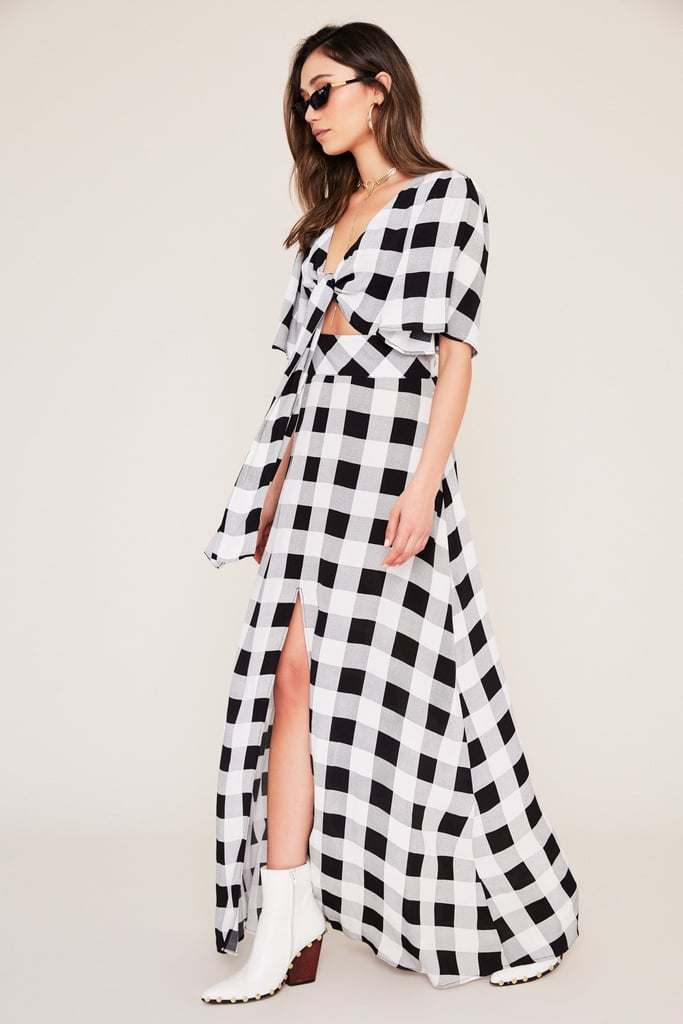 Ramon Cut Out Front Tie Maxi Dress