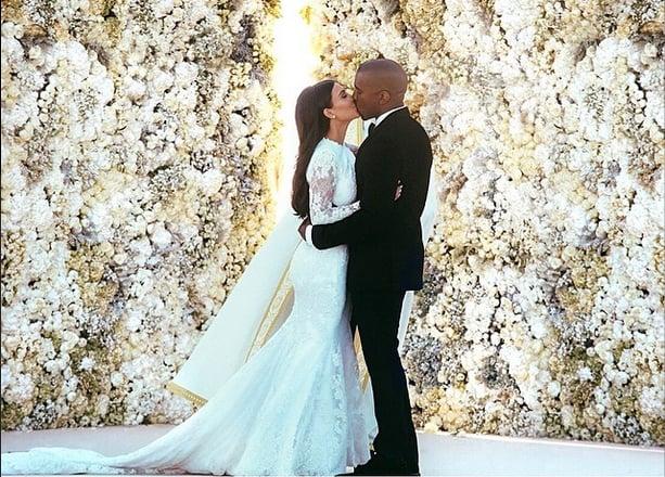 Kim Kardashian Weds Kanye West With Long Hair