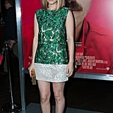 It wasn't just a chic botanical print that made us swoon for Kate Mara's J. Mendel shift at the LA Her premiere — the high hemline and sleek Charlotte Olympia heels did wonders for her legs.