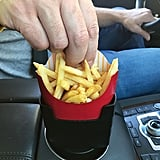 """Fries on the Fly"" Multi-Purpose Universal Car French Fry Holder"