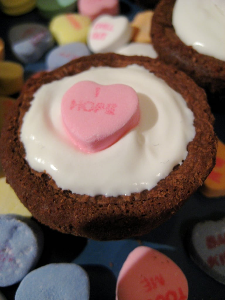 I Heart You Brownie Cupcakes
