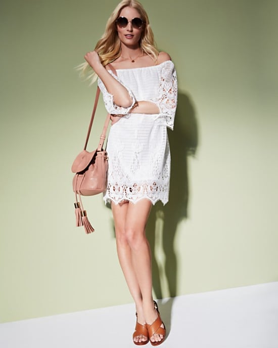 Moon & Meadow Off-the-Shoulder Lace Dress ($225)