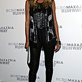 Heidi Klum posed for photos backstage at BCBG Max Azria on Thursday.
